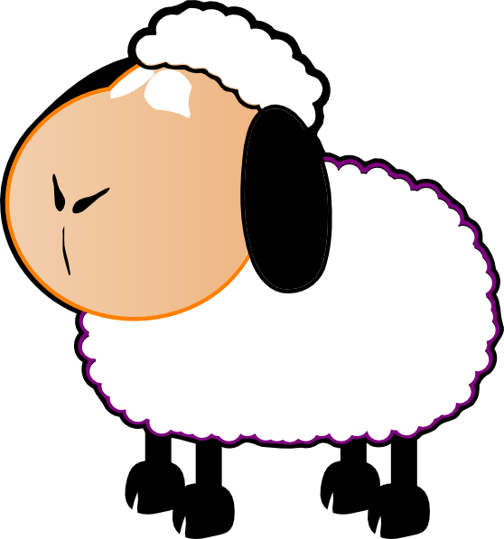 Foot clipart sheep. Black and white clip
