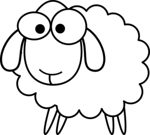 Sheep free images . Lamb clipart black and white