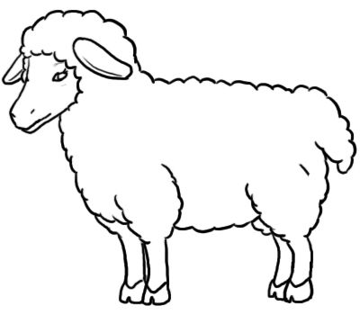 Lamb clipart black and white. Sheep how to