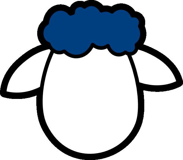Lamb clipart lamb head. Blue counter sheep clip