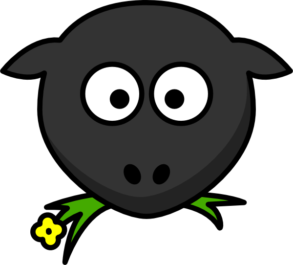 Head clip art at. Sheep clipart body