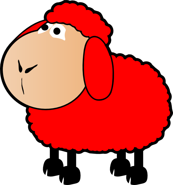 Red sheep clip art. Lamb clipart draw