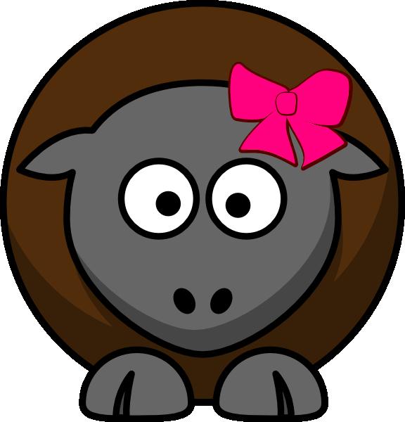 Cartoon clip art at. Clipart sheep brown sheep