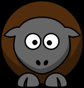 Clipart sheep brown sheep. Cartoon clip art at