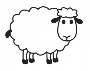 Lamb clipart colouring page. Sheep coloring pages for