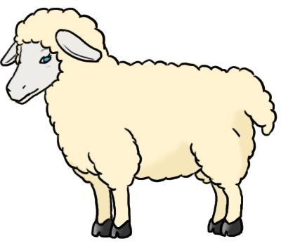 Clipart sheep colour. Farm animals simple sketches