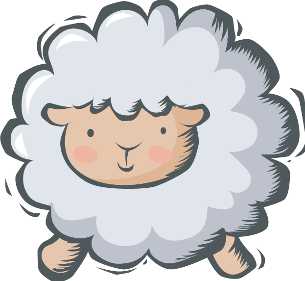 collection of lost. Lamb clipart kid