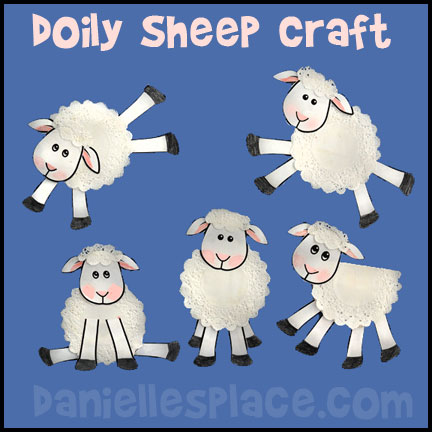 Crafts and activities kids. Clipart sheep craft