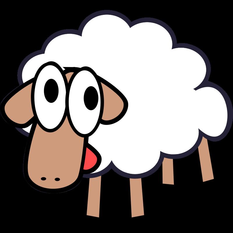 Cartoon sheep pics cliparts. Lamb clipart herd
