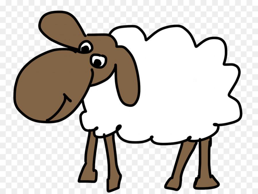 Sheep clipart ear. Cartoon rabbit line transparent