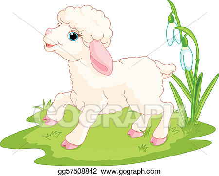 Lamb clipart easter. Vector stock illustration gg