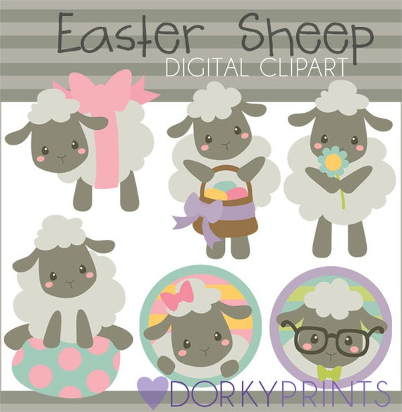 Easter sheep personal and. Lamb clipart spring