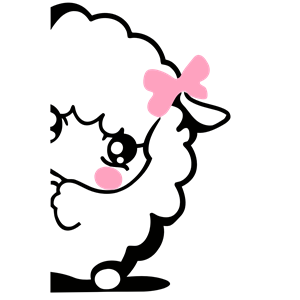 Shy icon cliparts of. Lamb clipart female sheep