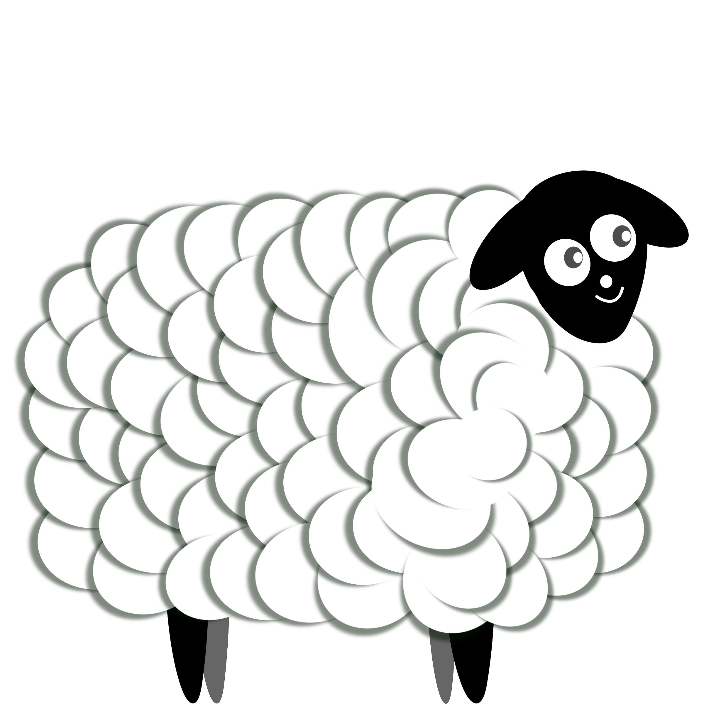 Sheep clipart fluffy sheep. Two color big image