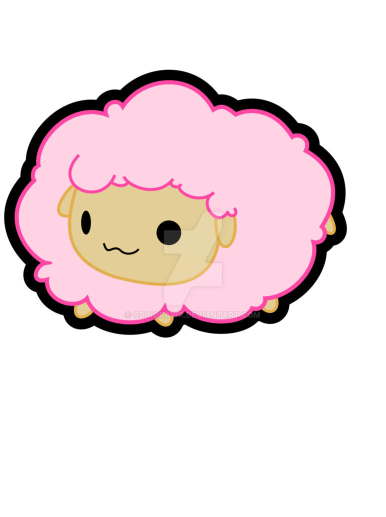 Pink by cdinorawr on. Sheep clipart fluffy sheep