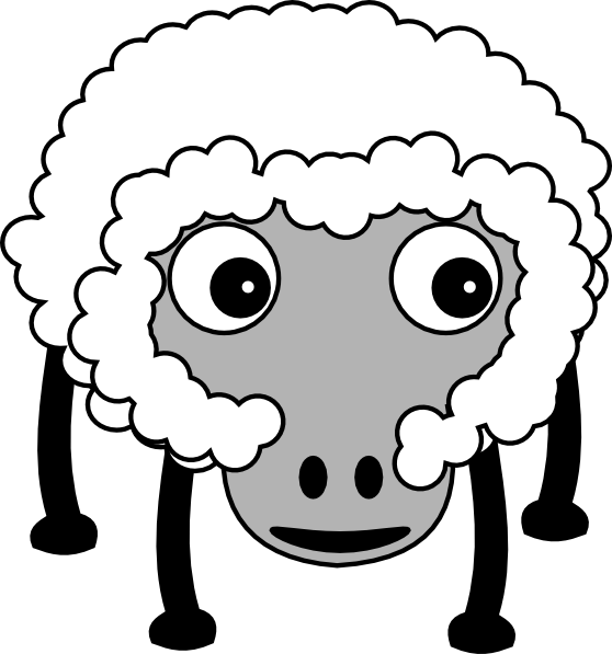 Clip art at clker. Sheep clipart fluffy sheep
