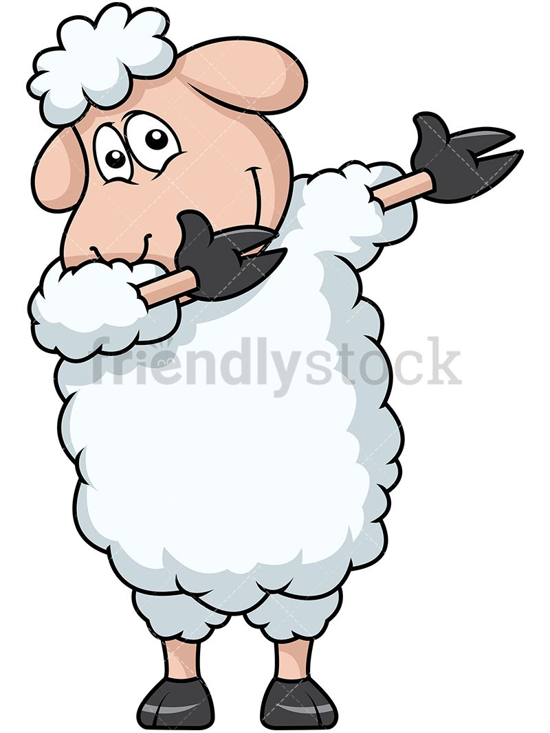 Sheep clipart fluffy sheep. Dabbing animals in cartoon