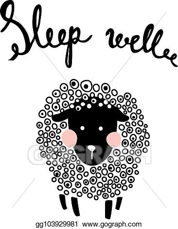 Vector stock illustration . Sheep clipart fluffy sheep