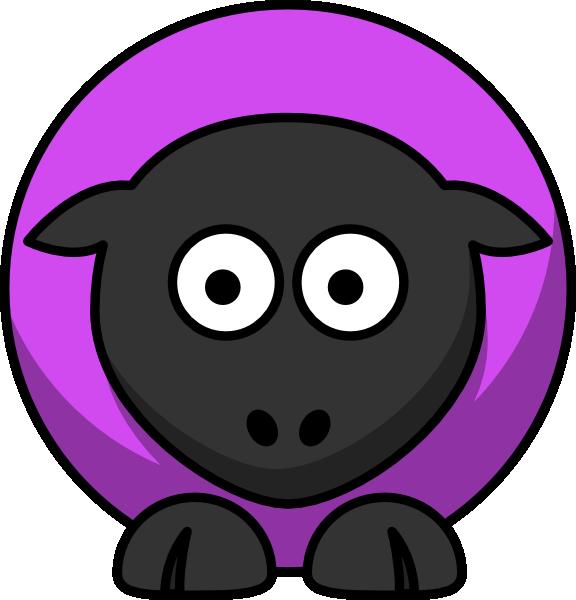 Violet clip art at. Sheep clipart purple