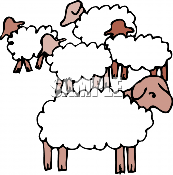 Flock of library free. Clipart sheep herd sheep