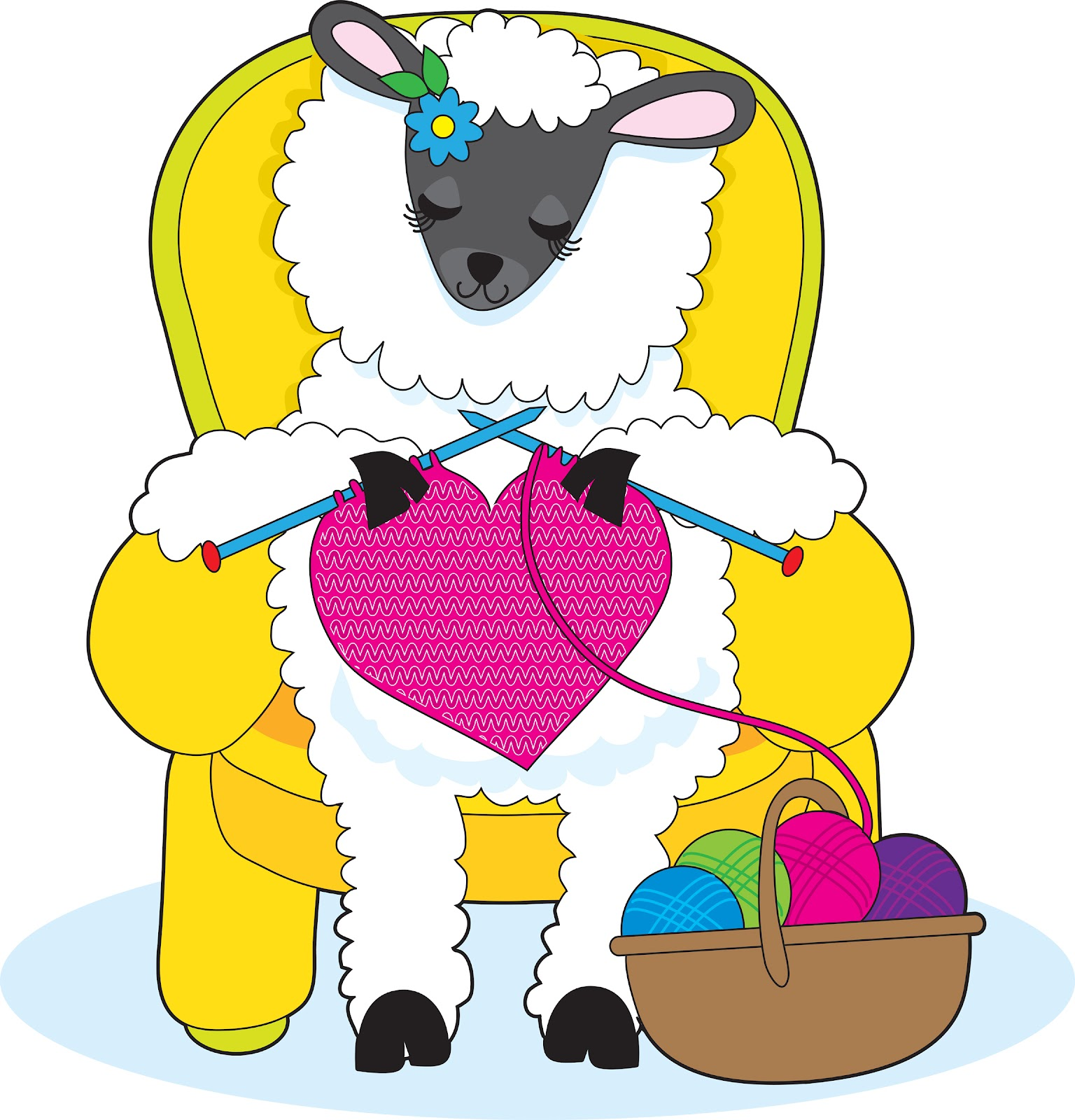 Clipart sheep knitting. Free cliparts download clip