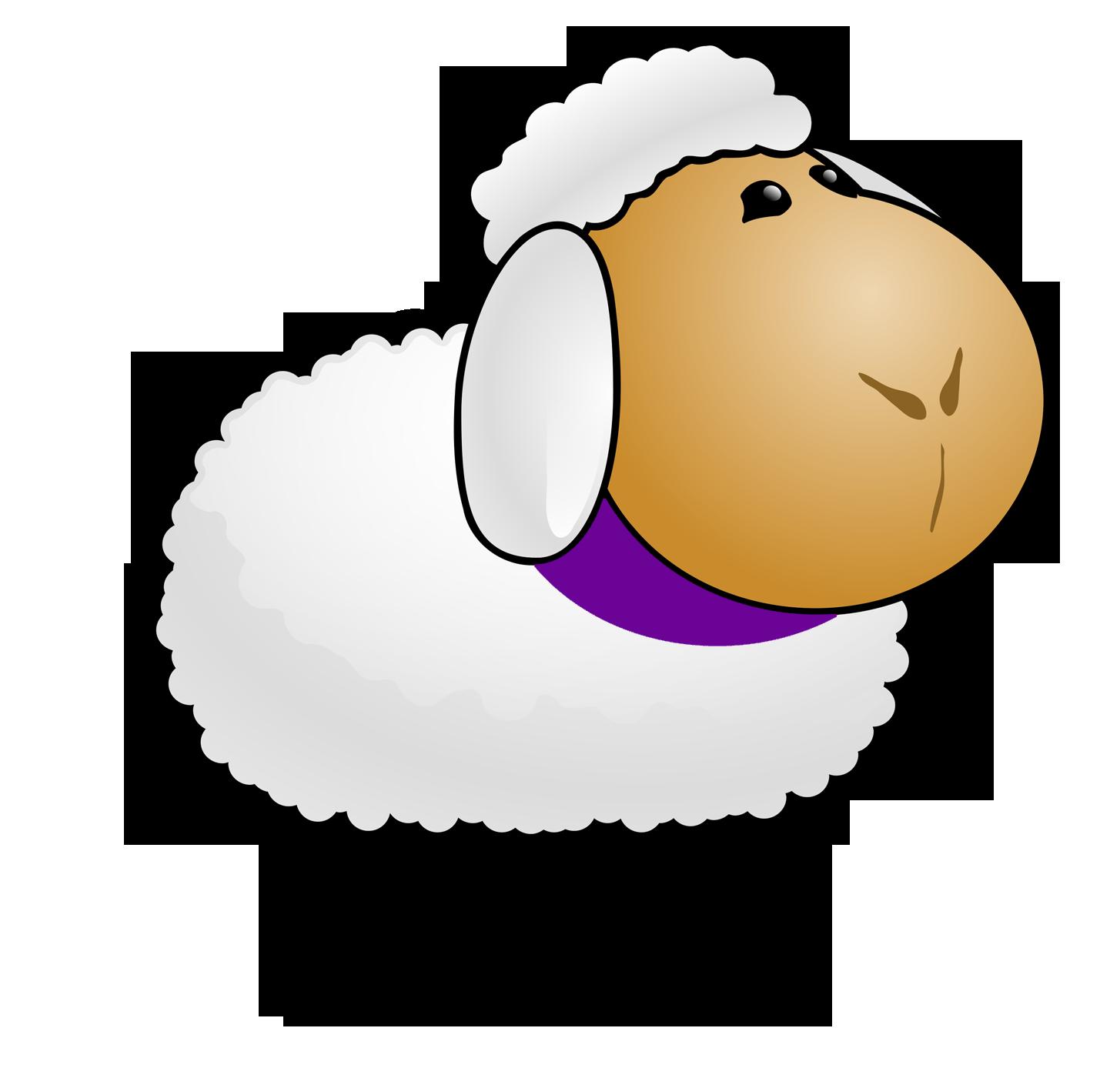 Debonnaire hand dyed yarn. Clipart sheep knitting