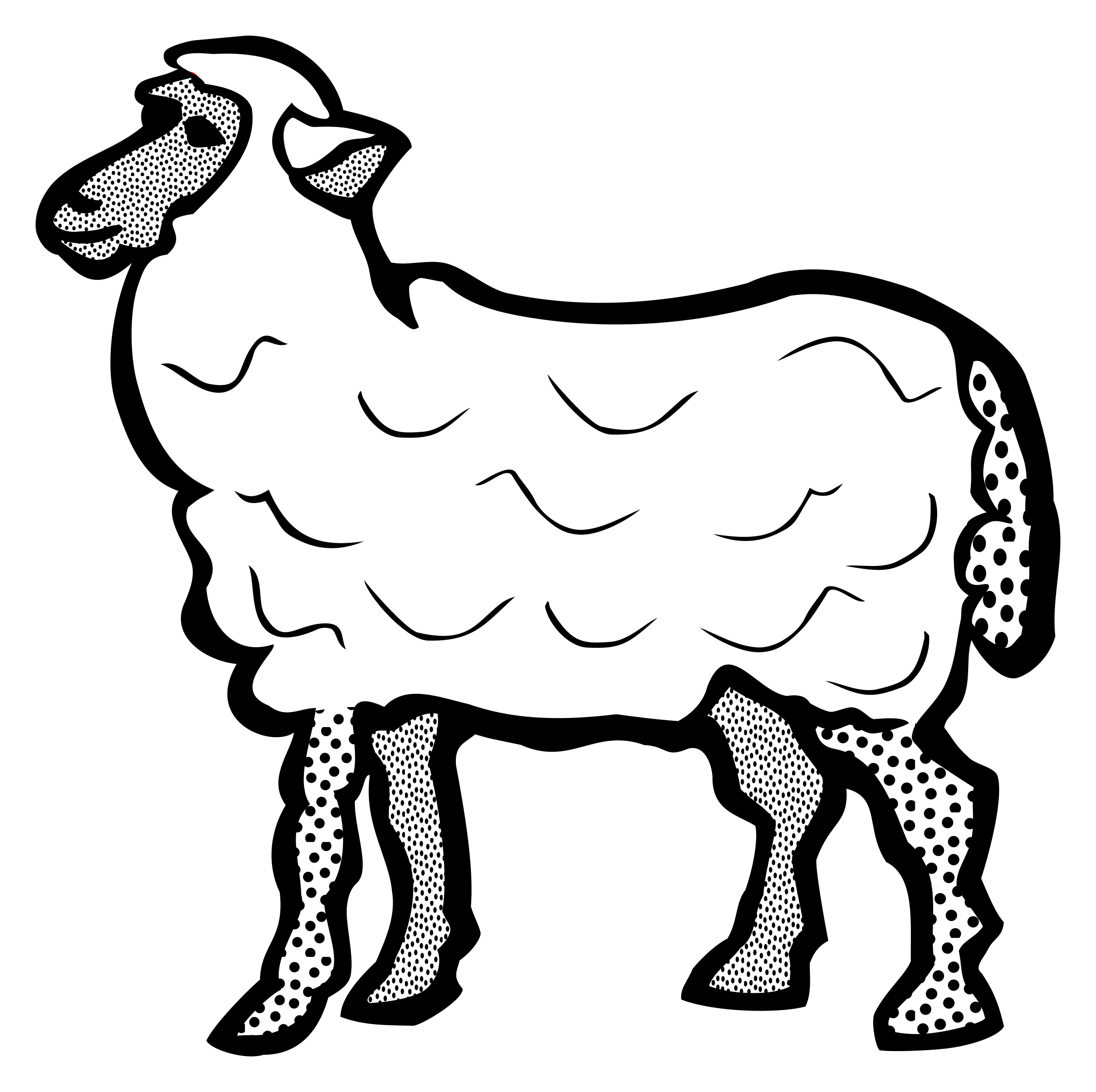 Lineart big image png. Sheep clipart family