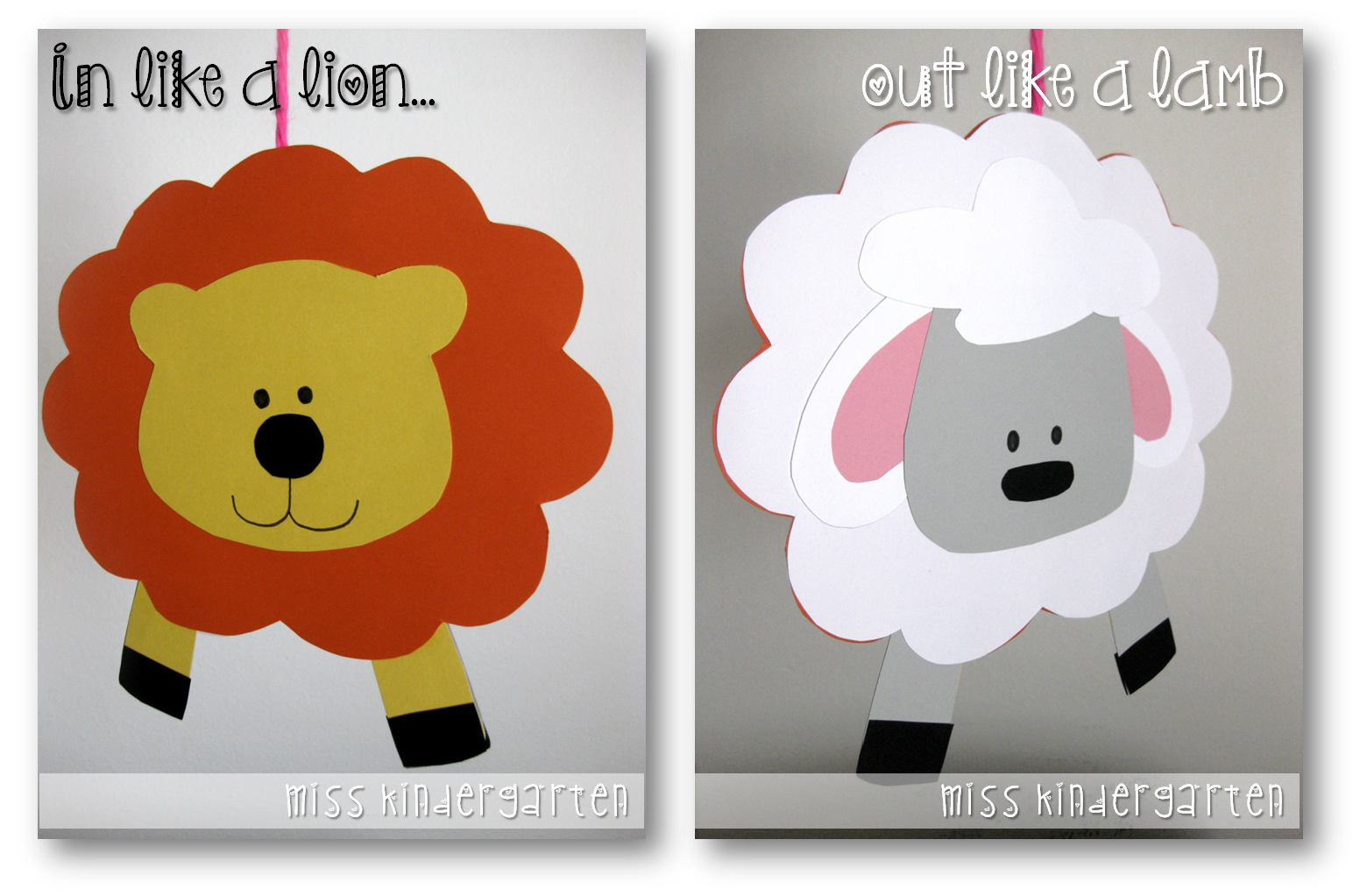 In like a lion. Lamb clipart march