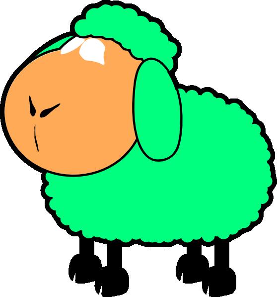 Sheep clipart man. Green blue clip art