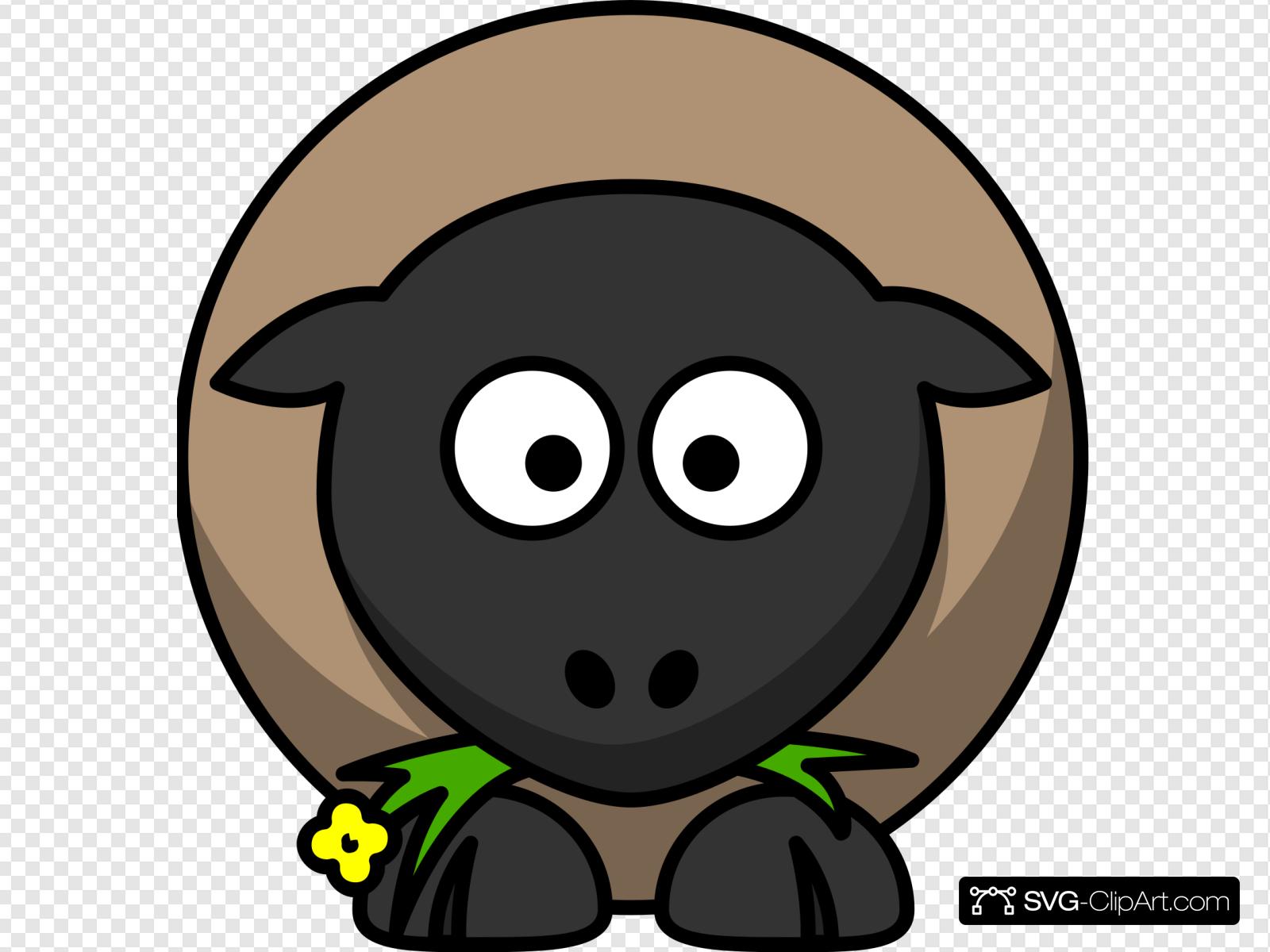 Clip art icon and. Clipart sheep orange