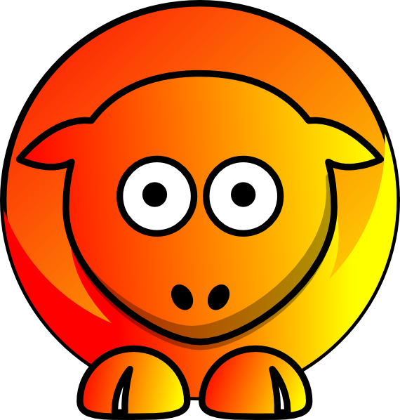 Fire and yellow clip. Clipart sheep orange