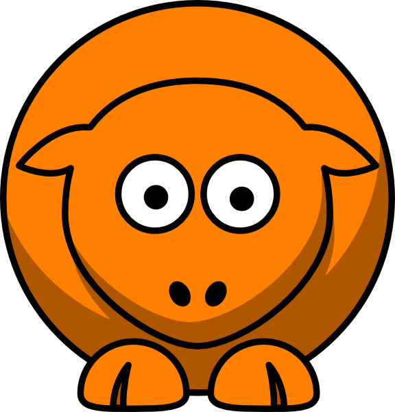 Looking straight clip art. Clipart sheep orange
