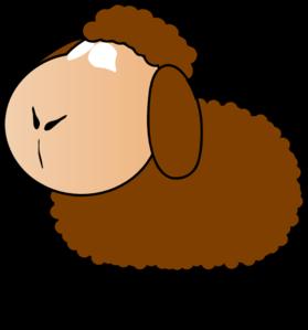 Brown clip art at. Clipart sheep orange