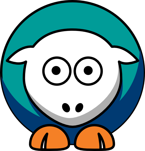 Waves clipart smile. Sheep pepperdine team colors