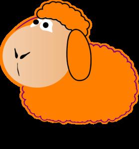 Clipart sheep orange. Clip art at clker