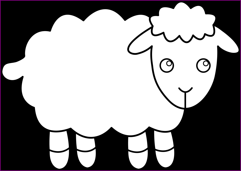 sheep clipart template #142386797