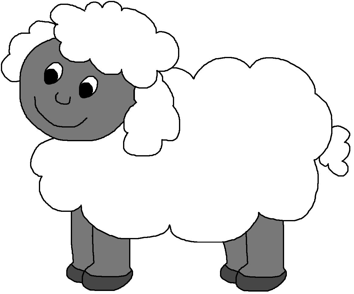 Lamb clipart herd. Sheep black and white