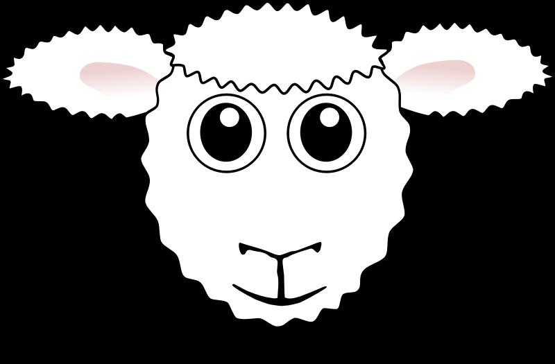 Sheep head drawing at. Lamb clipart passover lamb