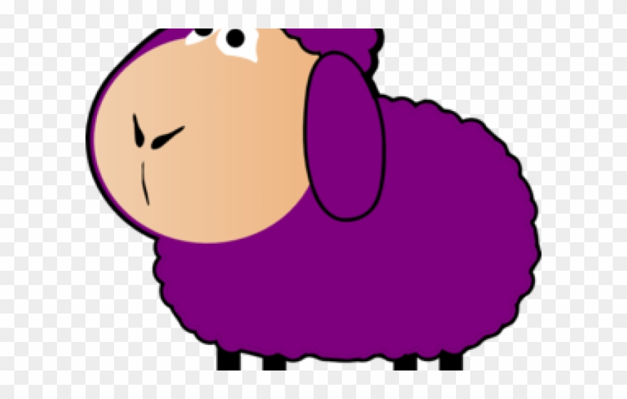 Png download . Sheep clipart purple