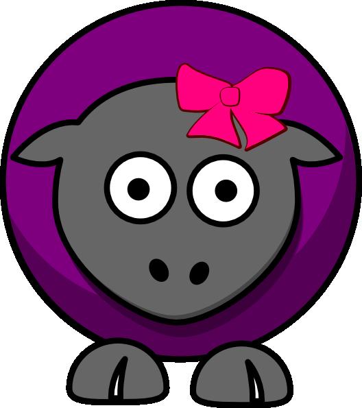 Cartoon clip art at. Sheep clipart purple