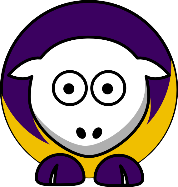 Sheep clipart purple. Toned minnesota vikings colors