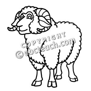 Lamb clipart ram. Clip art cartoon sheep