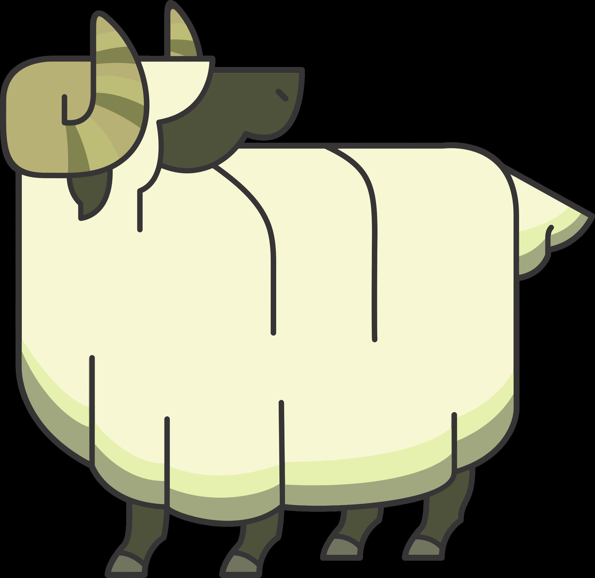 Lamb clipart ram. Stylized cartoon big image