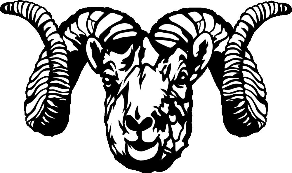 Onlinelabels clip art dall. Horn clipart ram horn