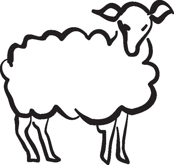 Stylized clip art at. Lamb clipart sheep drawing