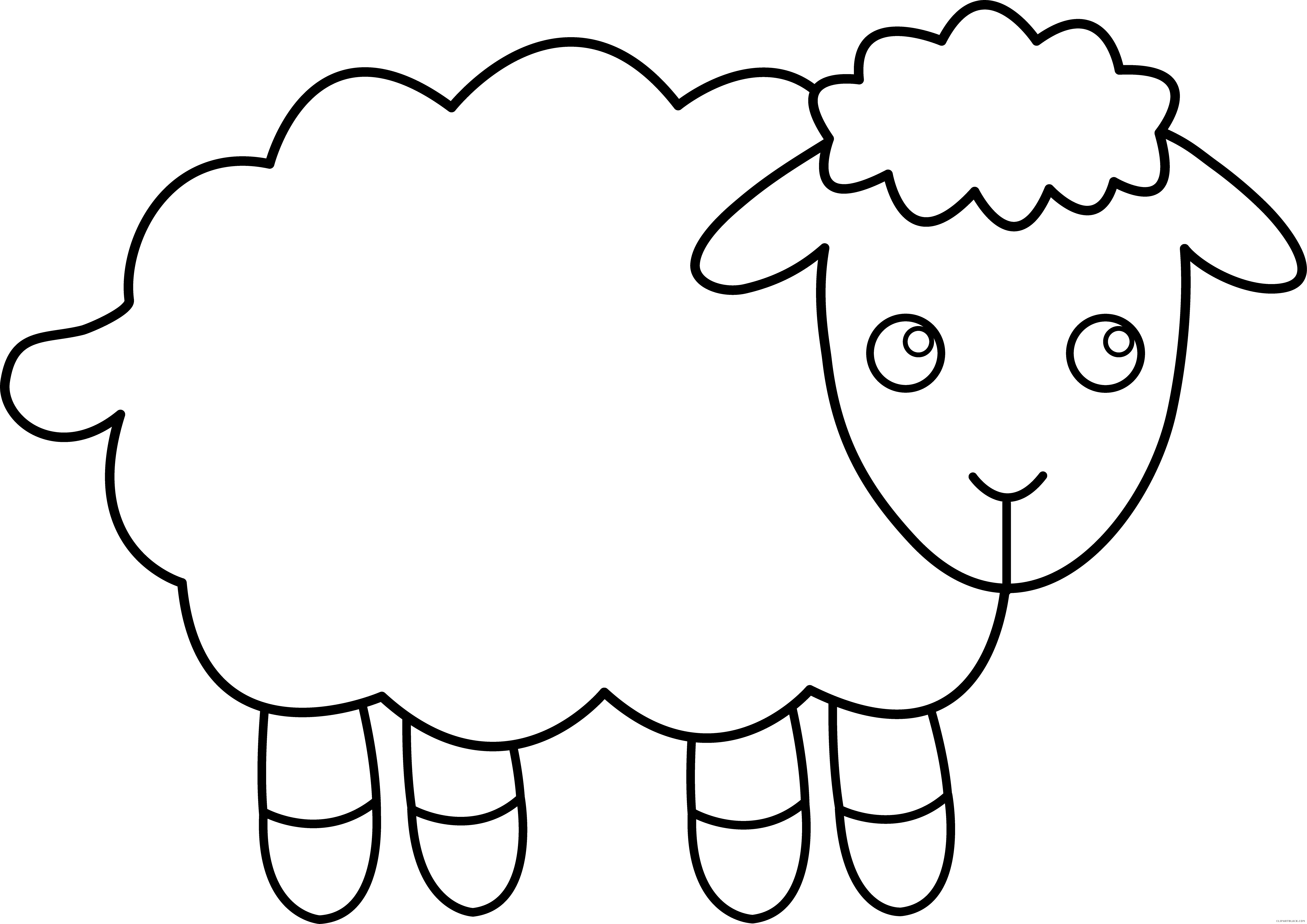 Black sheep wool clip. Lamb clipart realistic