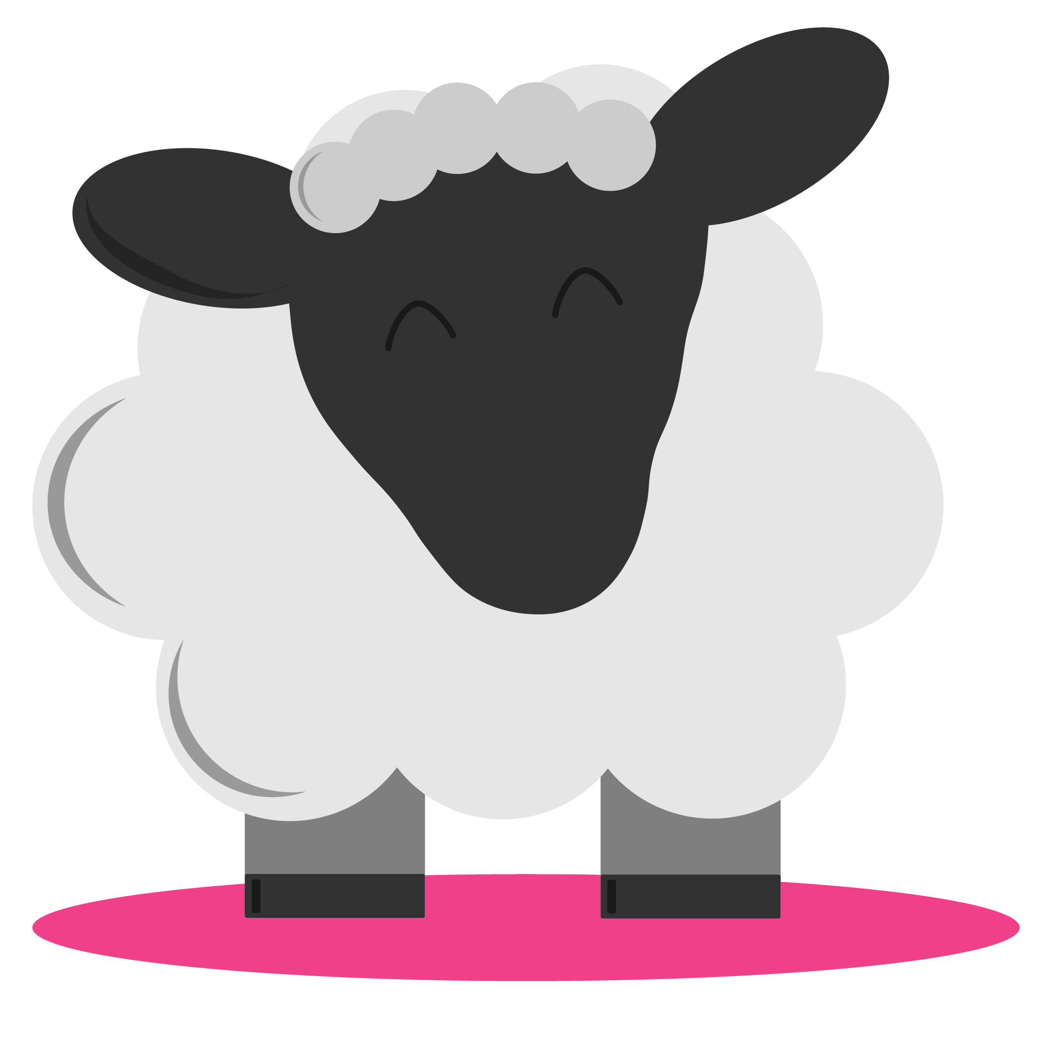 Farm icons hey there. Clipart sheep shadow