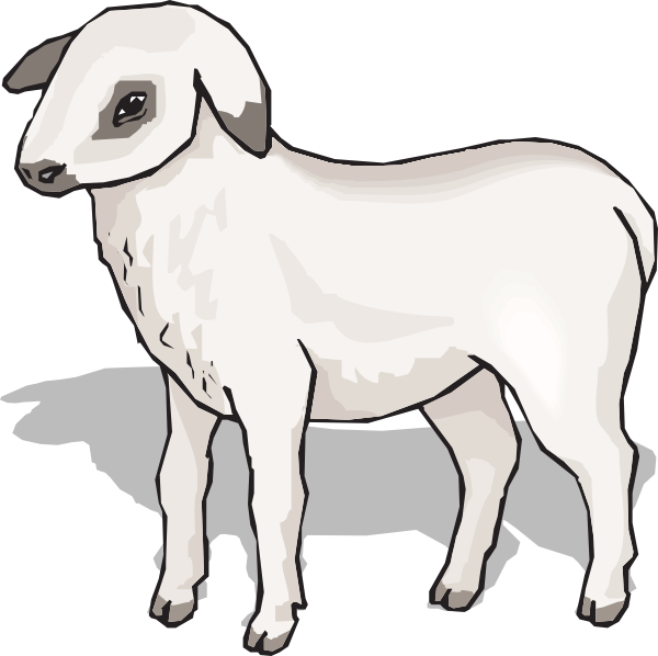 Clipart sheep shadow. Lamb clip art at