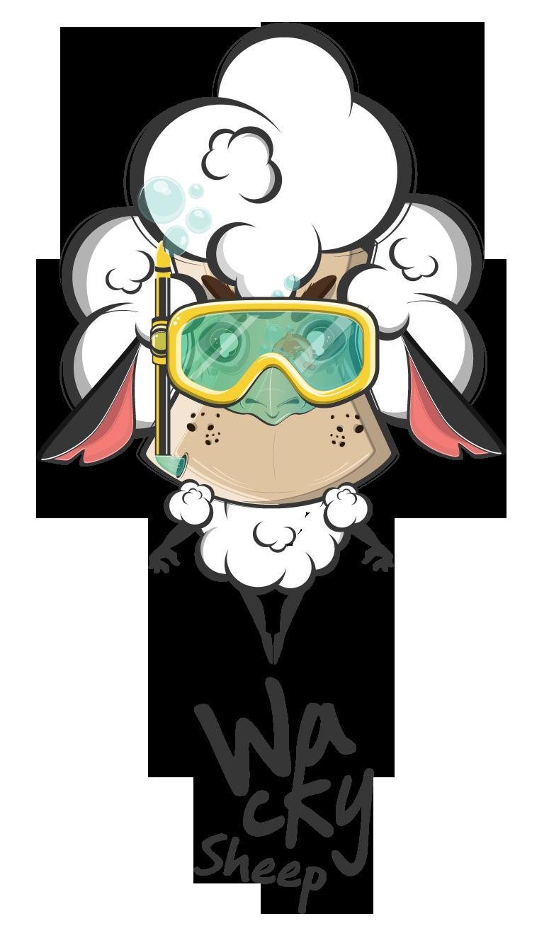 Sheep clipart shee. Wacky bikini swimwear on