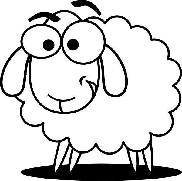 Clipart sheep sheep drawing. Funny at getdrawings com